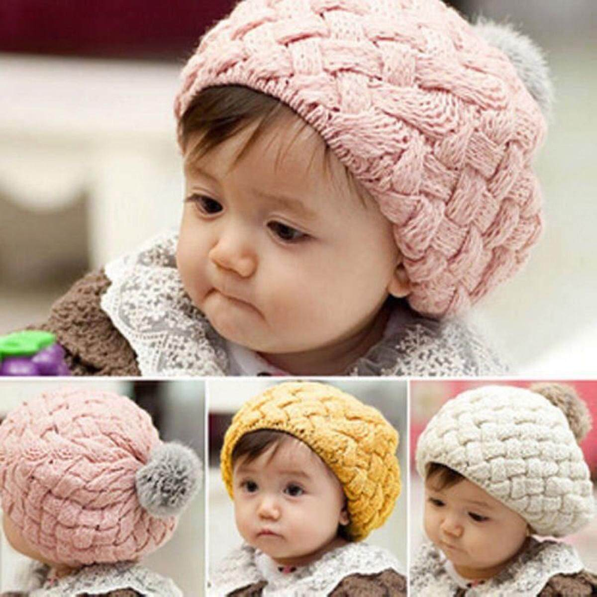 Cute Baby Toddler Kid Boys Girls Knitted Crochet Soft Warm Beanie Winter Hat Cap