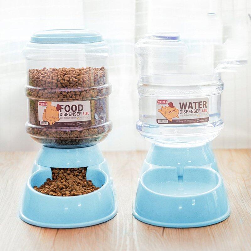 3.8L Máy Cho Vật Nuôi Ăn Tự Động Chó Mèo Bát Uống Nước Cho Thú Cưng Cho Chó Uống Nước Cat Ăn Dung Tích Lớn Dispenser