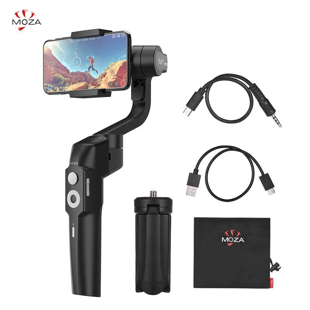 Moza Mini-S Foldable Handheld 3-Axis Stabilizer Gimbal Smartphone 280G Muatan dengan Lubang Sekrup Tripod Mini Kantong Penyimpanan untuk Android smartphone untuk Samsung Galaxy S9 Plus/S9/S8 Plus/S8