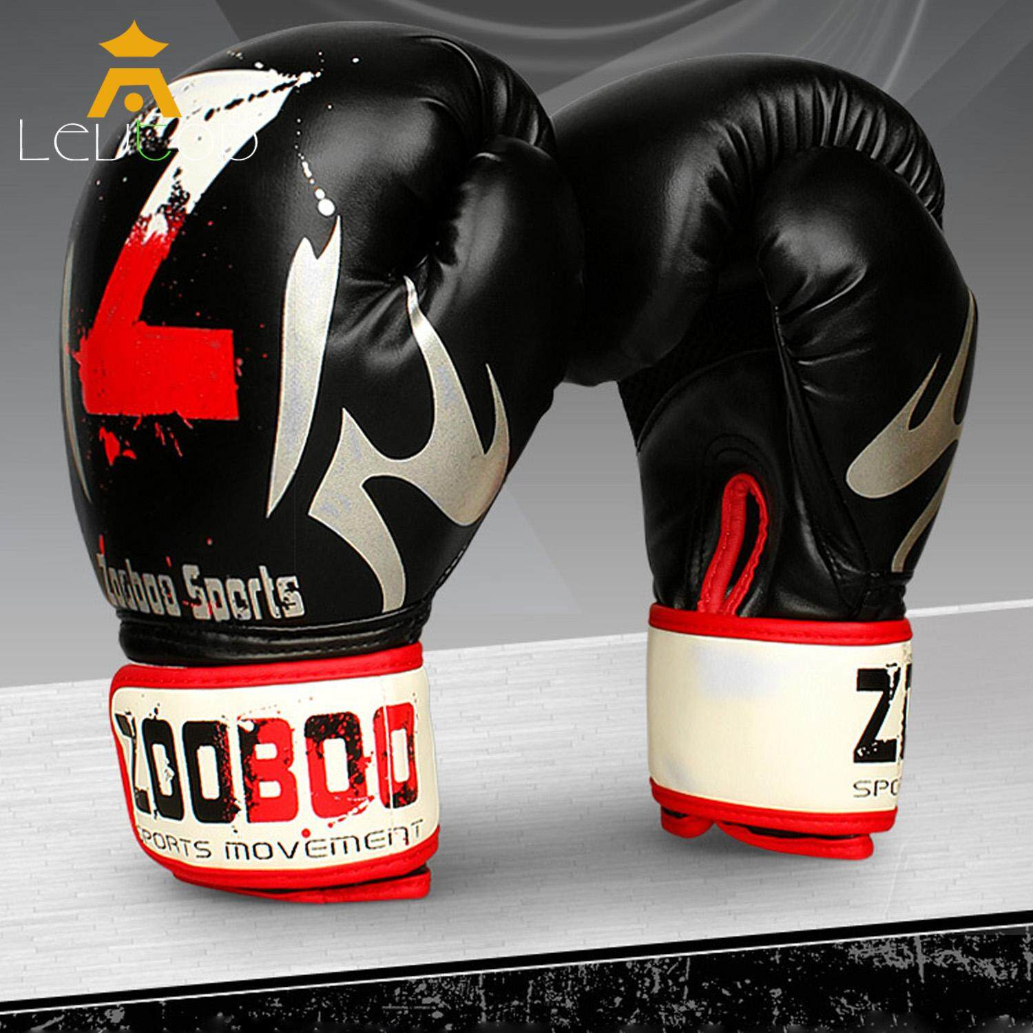 Levtop Boxing Gloves Professional Mma Muay Thai Boxing Punching Sparring Gloves Fighting Training Pu Leather Fitness Boxing Pads Mitt Kick Sports Gloves.