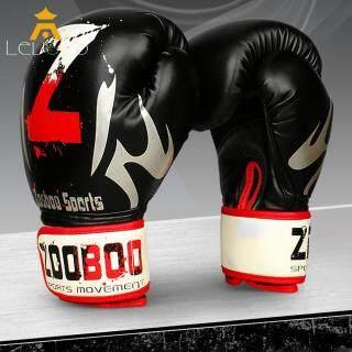 01 đôi găng tay đấm bốc cao cấp bằng da dành cho môn thể thao quyền anh kích thước 28x14cm LEVTOP - INTL thumbnail