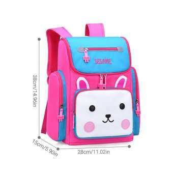 BuyInBulk กันน้ำเด็กกระเป๋าสะพายเด็กหนังสือผ้ากระเป๋าการ์ตูนหมีน่ารัก 3D สเตอริโอ Stamper Design เด็กทนทานกระเป๋านักเรียนกระเป๋าเป้สะพายหลัง-
