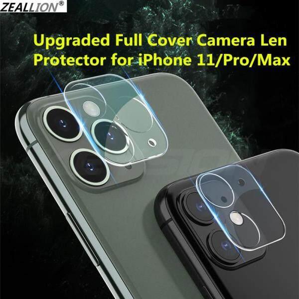 Giá Vỏ Bảo Vệ Ống Kính Camera Zeallion Cho iPhone, 1 Miếng Dán Kính Cường Lực Trong Suốt, Chống Trầy 360, Bảo Vệ Toàn Diện Camera Sau Lưng Cho Điện Thoại Apple iPhone 11 Pro Max