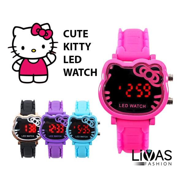 Kitty Watch LED Watch Digital Watch Women Watch Kids Watch Jam Tangan Budak Jam Tangan Kanak Kanak 儿童手表 Malaysia