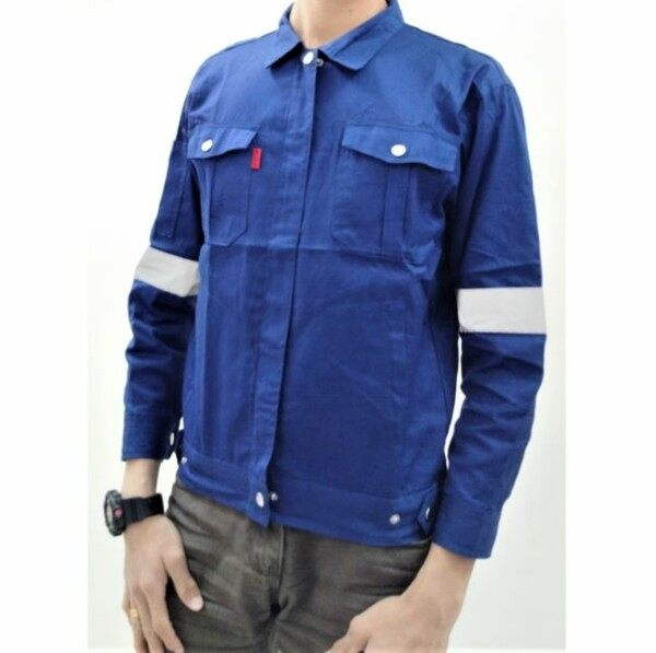 Size S - 4XL PPE Safety Jacket Workwear With Reflector Baju Kerja Keselamatan ROYAL BLUE