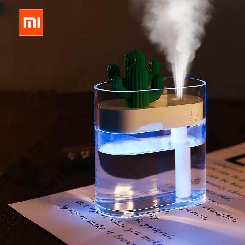 Xiaomi Mijia 319 Cactus Clear Cactus Air Humidifier 160ml Color Light USB Air Purifier Anion Mist Maker Air Humidifier Singapore