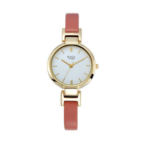 Titan Raga Viva White Dial Analog Watch for Women 2608YL01 Malaysia