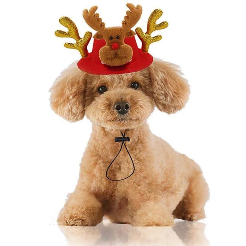 Mũ Giáng Sinh Cho Thú Cưng, Trang Trí Lễ Hội, Nón Sừng Hươu Cho Thú Cưng