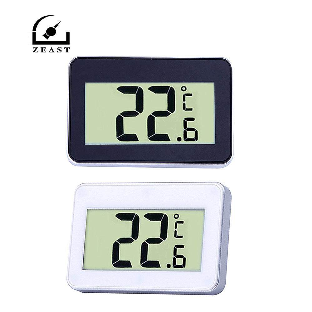 White TS-A95 Mini LCD Digital Thermometer Hygrometer Waterproof Electronic Thermometer With Hook