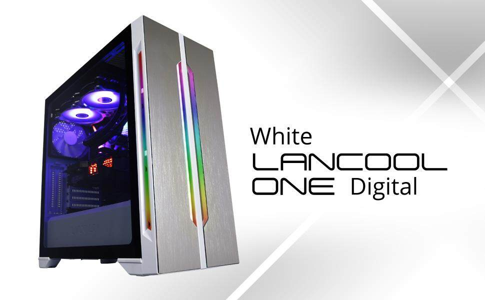 Lian Li LanCool One Digital RGB Tempered glass E-ATX casing - White Malaysia