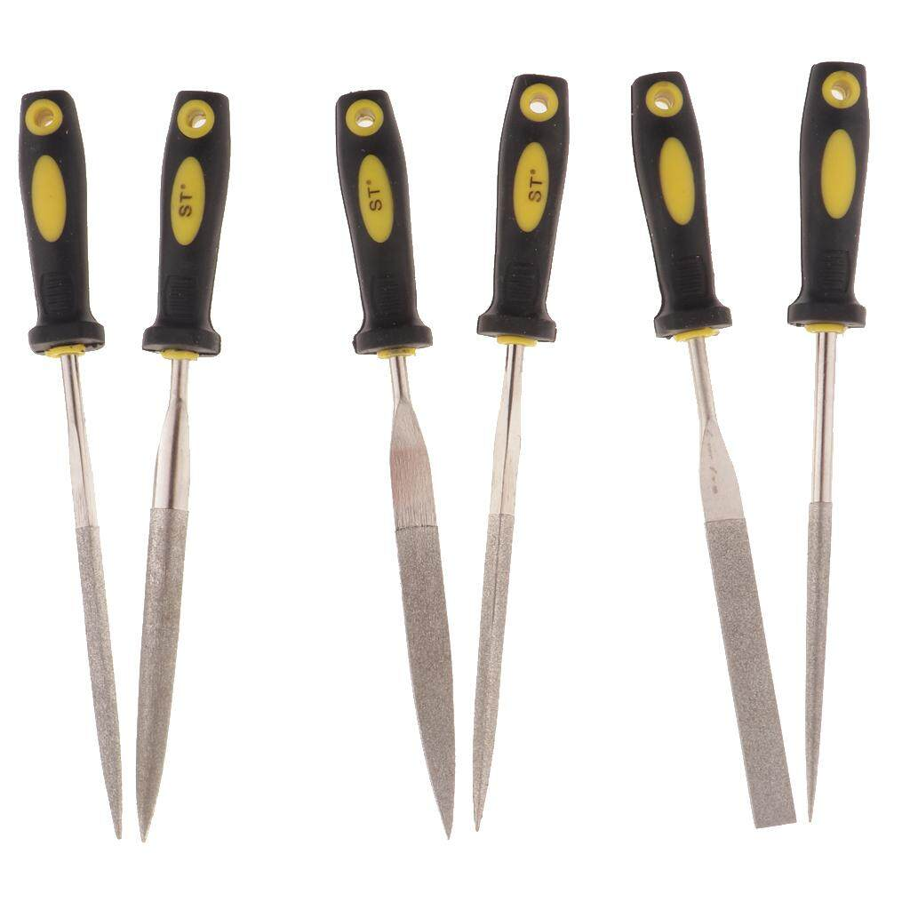 MagiDeal 6pcs Metal Needle Files Set Carving Jewelry Diamond Glass Stone Crafts Tool
