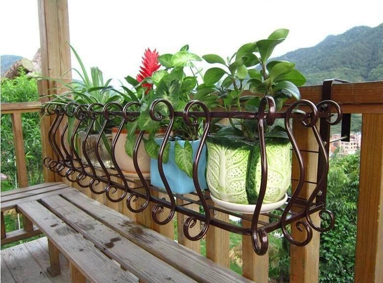 Flower Rack Balcony Windowsill Fence Flower Rack By Olive Al Home
