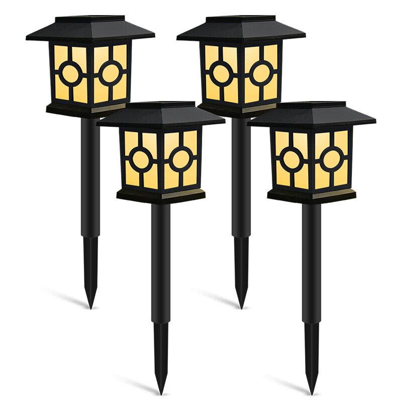 WF Lampu Rumput LED Tenaga Surya, Lampu Malam Tahan Air untuk Jalan Lanskap Taman, Halaman, Teras, Jalan Raya