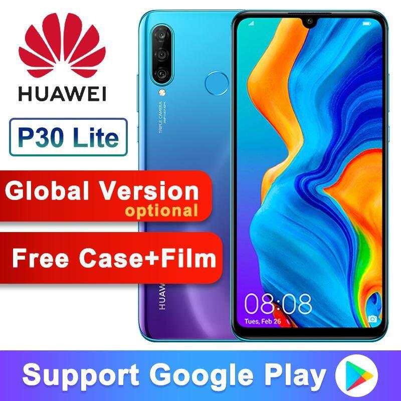 Global Version Optional Original Huawei P30 Lite Nova 4e Smartphone 6.15 inch Kirin 710 Octa Core Android 9.0 32MP 4*Cameras - US Plug