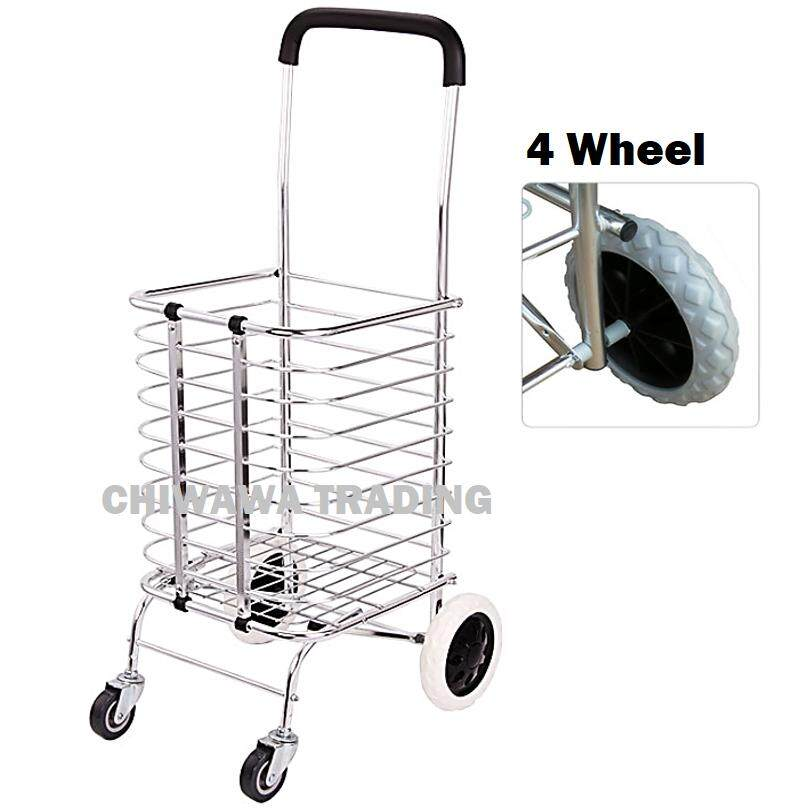 Climb Stairs Pulling Shopping Trolley Carriers Cart Foldable Aluminum Hand Trucks Luggage Grocery Storage Bag