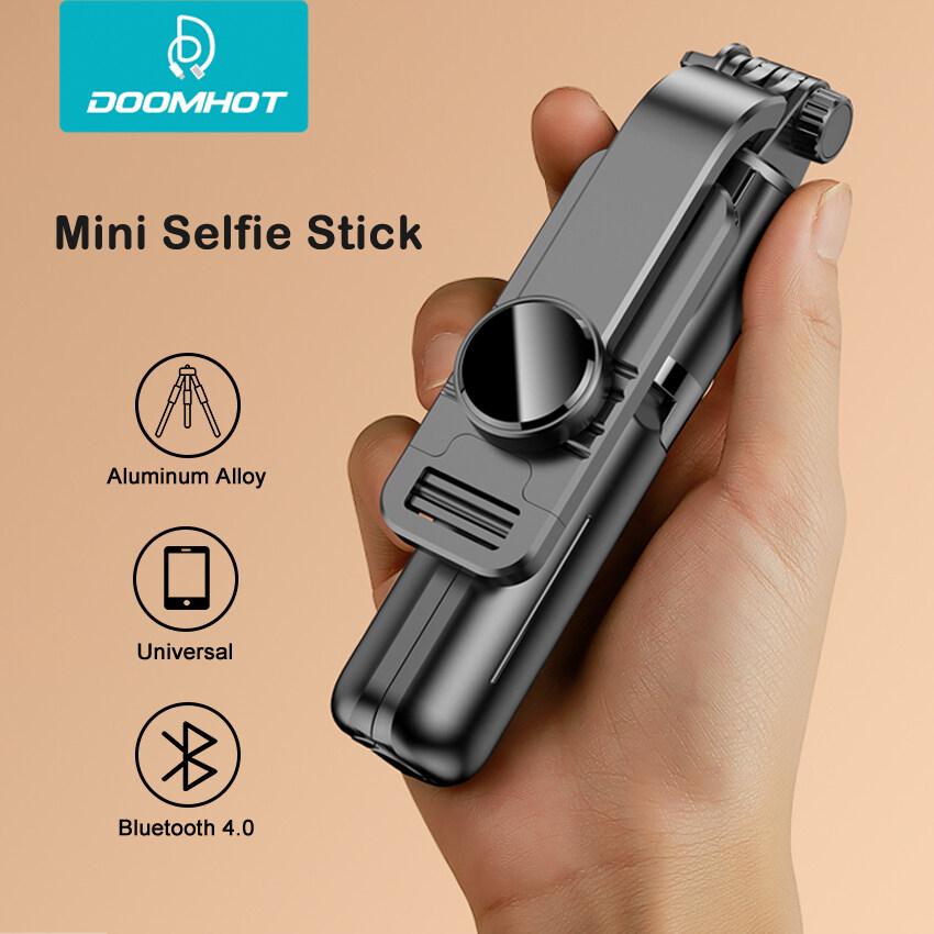 Doomhot โทรศัพท์มือถือขาตั้งโทรศัพท์ขาตั้งไม้ Selfie สำหรับกล้อง Mobile ขาตั้งกล้อง4.0บลูทูธรีโมทคอนโทรลปรับความสูงแบบพกพาขาตั้งกล้องสำหรับโทรศัพท์มือถือ/กล้อง.
