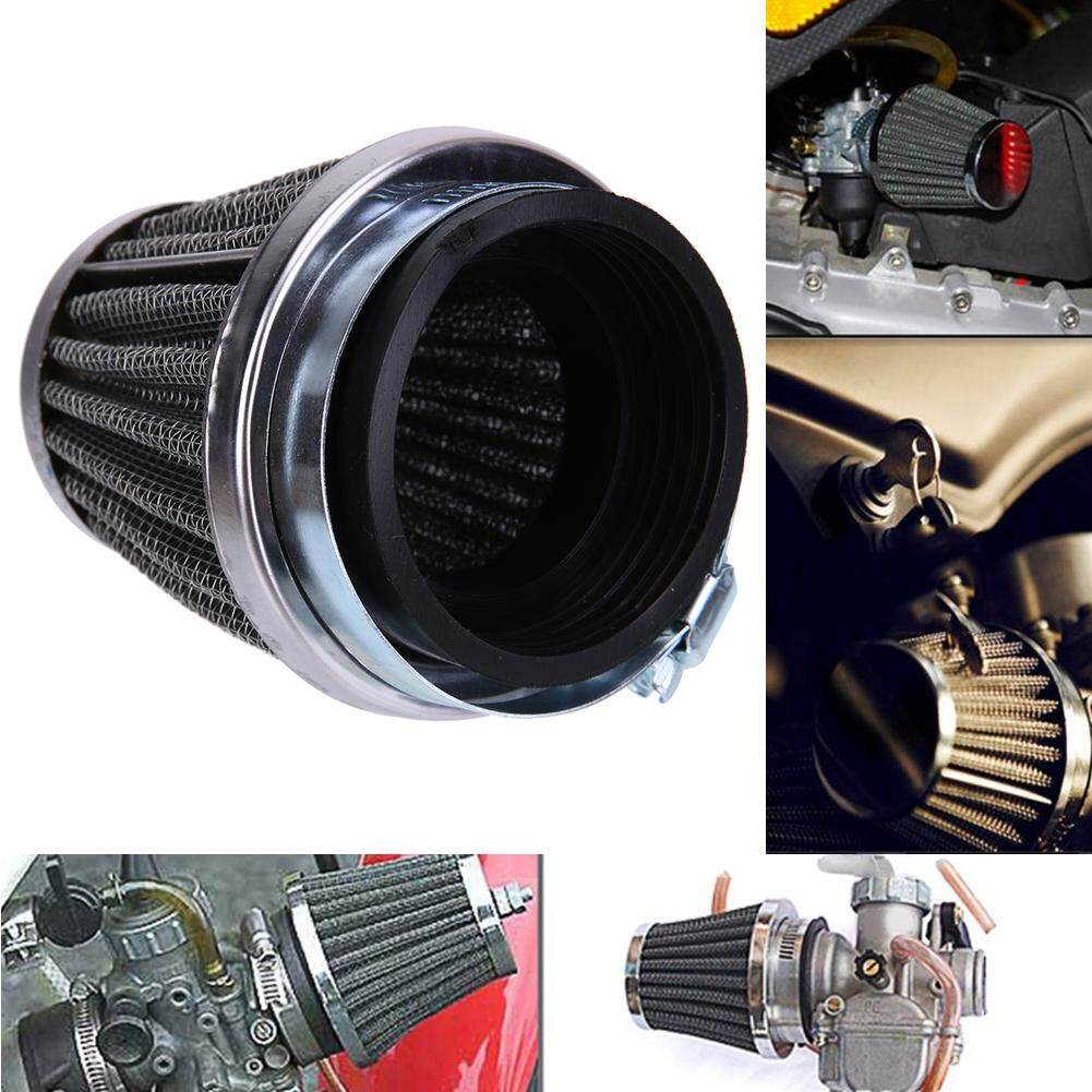 60mm 2 Layer Steel Net Filter Gauze Motorcycle Clamp-On Air Filter Cleaner By Motorcyclesaccessories.