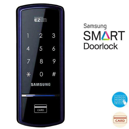 Samsung SHS-1321 Smart Digital Door Lock ★English Users Manual★ Keyless Electronic Security Entry. 4ea Touch Keys Black
