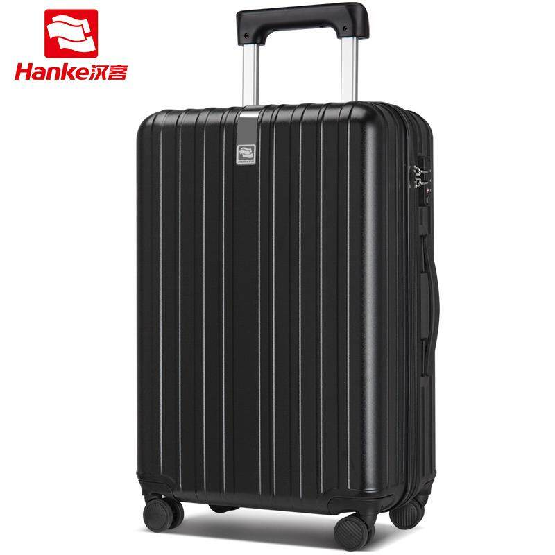 HANKE 24 inch Luggage suitcase Men Women waterproof travel spinner wheel trolley case PC+ABS TSA H9976