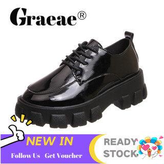 Giày bốt cổ ngắn dành cho nữ chất liệu da PU chống nước thích hợp đi mùa đông phong cách giản dị cá tính kích cỡ 35-39 - INTL thumbnail
