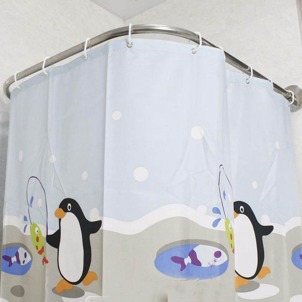 Loviver Shower Curtain Curved Rail U Shape Single Way Track Rod Pole Bath 140cm By Loviver.