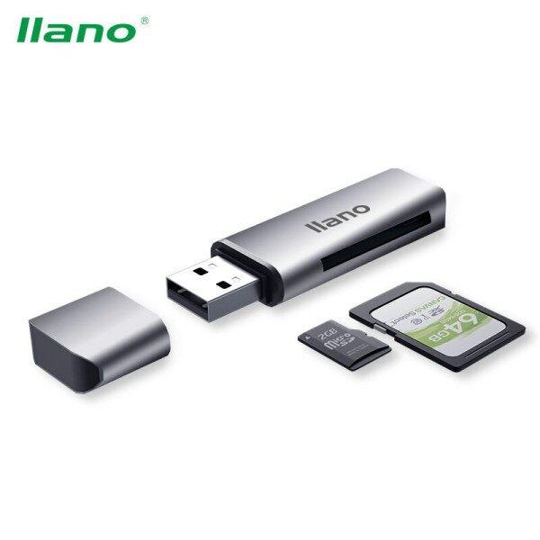 Giá Đầu Đọc Thẻ USB Llano 2 Trong 1 Cho SD/TF/Thẻ Nhớ/Micro SDHC SDXC Bahan Hợp Kim Nhôm
