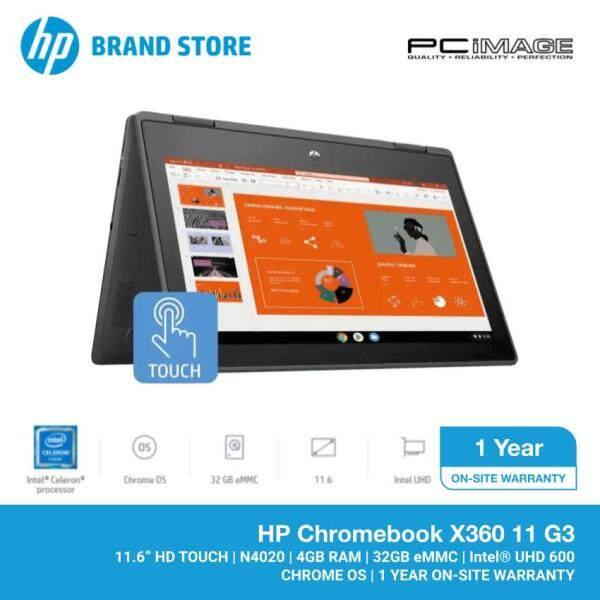 HP Chromebook X360 11 G3 11.6 Laptop/Notebook (Intel Celeron N4020, 4GB, 32GB eMMC, Intel UHD, Chrome OS, Touchscreen) Malaysia
