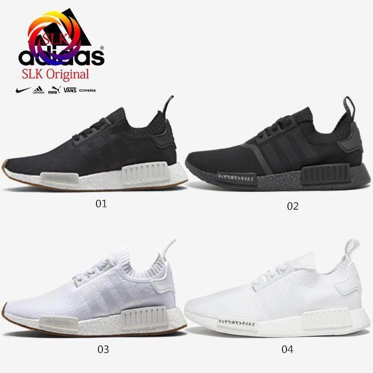 SLK★* Stok Tersedia * 4 Warna Ori Adidas NMD Meningkatkan R1 Pk Sepatu Lari Wanita Pria Sneakers