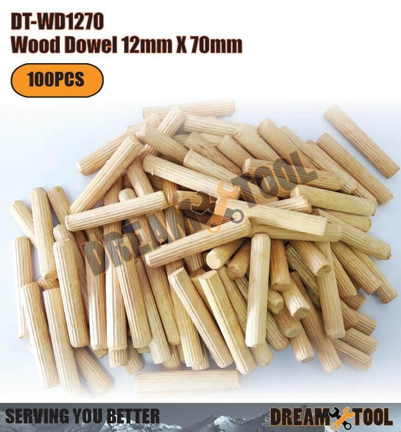 DT-WD1270Wood Dowel / Dowel Pin Wooden 12mm X 70MM (100PCS)