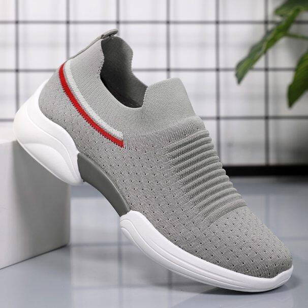 Giày Thể Thao Nữ Mùa Hè Giày Lười Đế Bằng Giày Đế Bằng Màu Trắng Giày Tennis Nữ Giày Thể Thao Sock 2020 Giày Nữ Thường Ngày giá rẻ