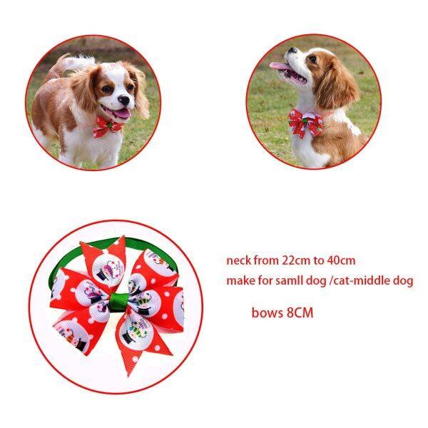 100 Cái Dog Phụ Kiện Giáng Sinh Nơ Cổ Cho Chó Họa Tiết Cún Cưng Cat Xmas Bowties Cà Vạt Chó Nhỏ Tiệc Tùng Lễ Hội Phụ Kiện Chải Chuốt