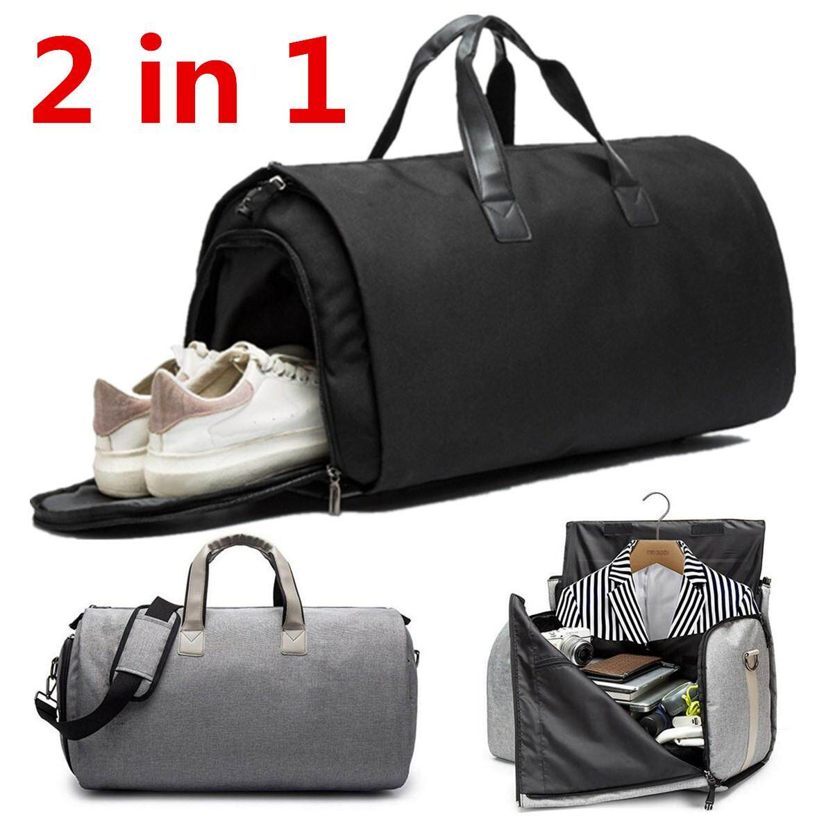 2 in 1 Travel Garment Bag+Duffle Business Suit&Jacket Gym Sport Luggage Bags 2018 HOT Mens 2 In 1 Travel Garment Bag+Duffle Business Portable Suit&Jacket Bag