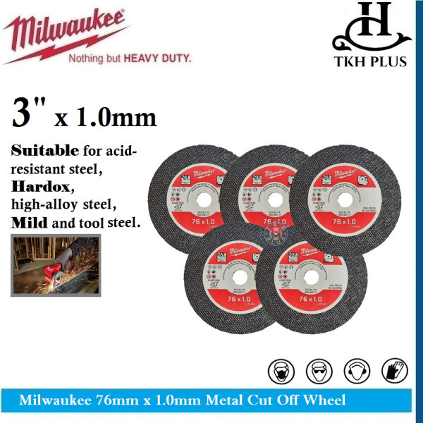 Milwaukee Metal Cut Off Wheel 3 Inch / 76mm, Per Pack of 5 - 4932464717 (For M12FCOT / M12FCOT-0))