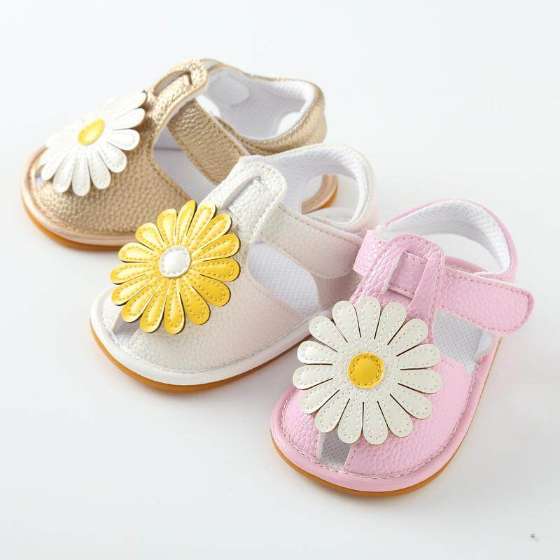 08ee7bb40e525 Baby Kid Girl Flower Decor Princess Shoes Casual Toddler Infant Moccasin  Sandals