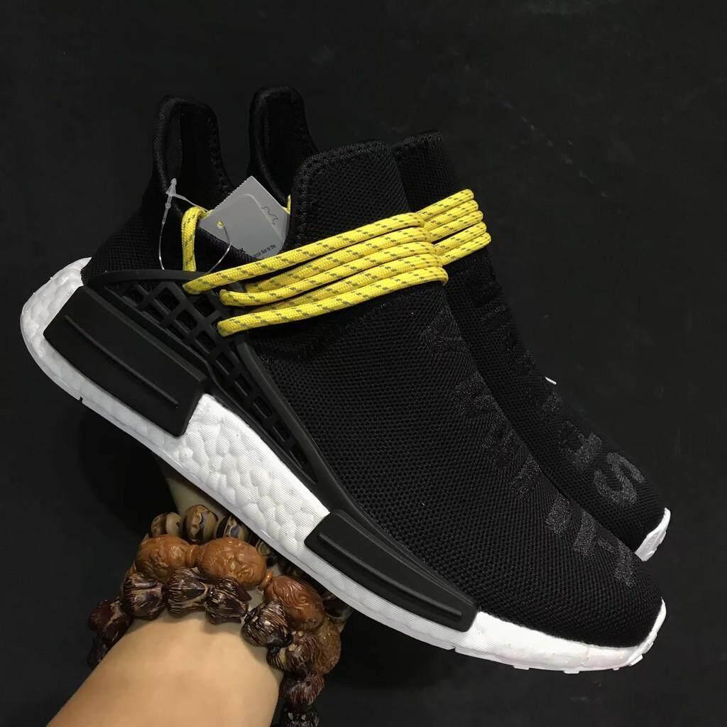 การใช้งาน  ปทุมธานี ต้นฉบับ Pharrell x Adidas NMD Human Species สีดำรองเท้ากีฬาสำหรับผู้ชาย 40-44