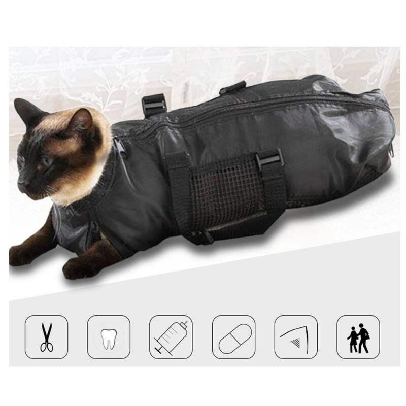 Mèo Đa Chức Năng Túi Đựng Khăn Giấy Lưới Tắm Túi Vải Lưới Có Thể Điều Chỉnh Mèo Giũa Móng Cắt Tỉa Tiêm Túi Chống Trầy Xước