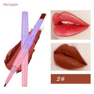 MyQueen Lipstick Matte Lâu Trôi Lip Liner Bút Đôi Kết Thúc Dưỡng Ẩm Trang Điểm Quà Tặng Cho Phụ Nữ thumbnail