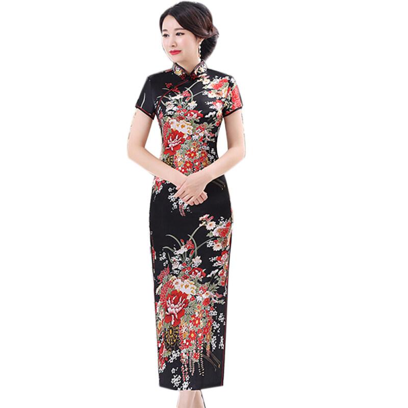 Nơi bán Đầm Sườn Xám Họa Tiết Hoa Benferry Cho Nữ Cổ Đứng Phong Cách Trung Quốc - INTL