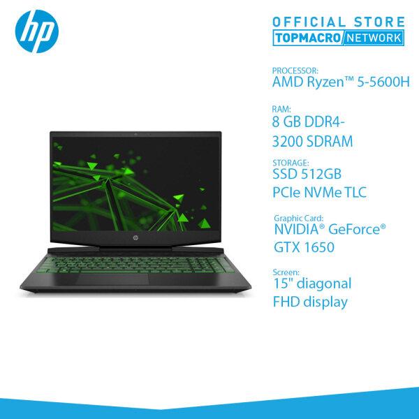 HP PAVILION 15-EC2023AX GAMING LAPTOP (R5-5600H, GTX1650 4GB, 8GB, 512GB SSD, 15 IPS 144HZ, WIN10) SHADOW BLACK Malaysia