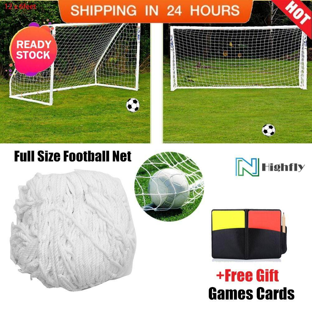 298206de8 【Free Gift】Full Size Football Soccer Net Sports Replacement Soccer Goal  Post Net (