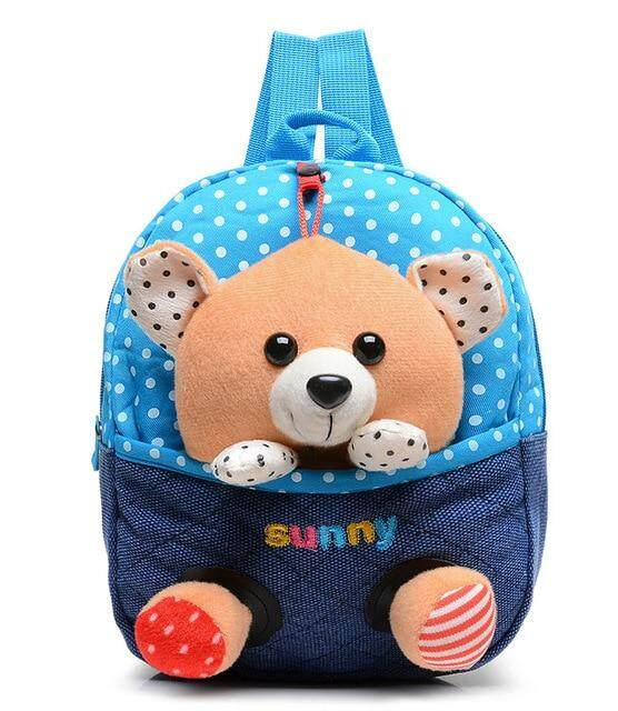 Plush backpacks toy bear Kids plush bags Dolls&Stuffed Toys Baby kindergarden School Bags children mochila for 2-5years