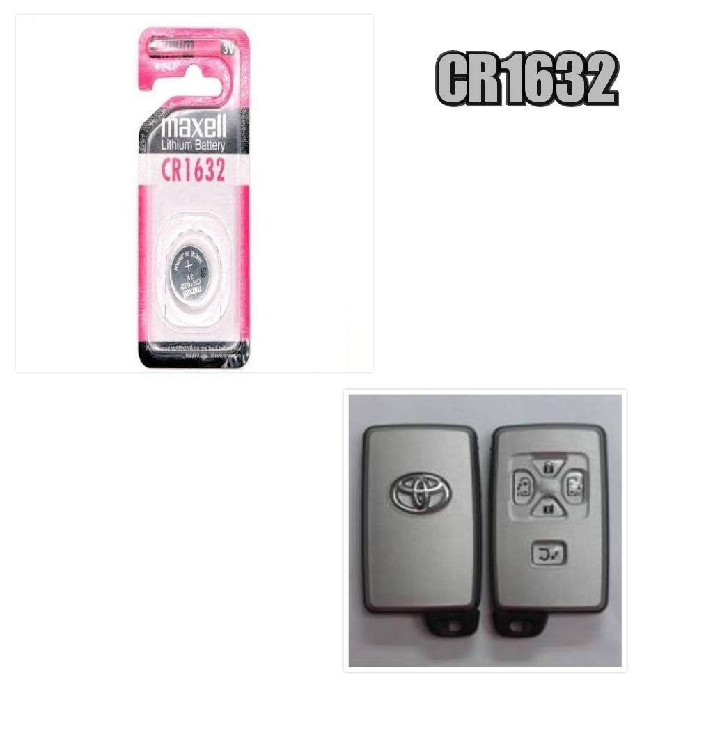 TOYOTA ALPHARD ESTIMA BATTERY REMOTE REPLACEMENT-CR1632 GENUINE Maxell Japan Lithium Battery 3V (2PCS)