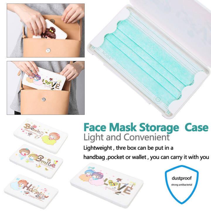 Storage folder Empty Box Travel Organizer Mask Storage Case Cartoon  Container