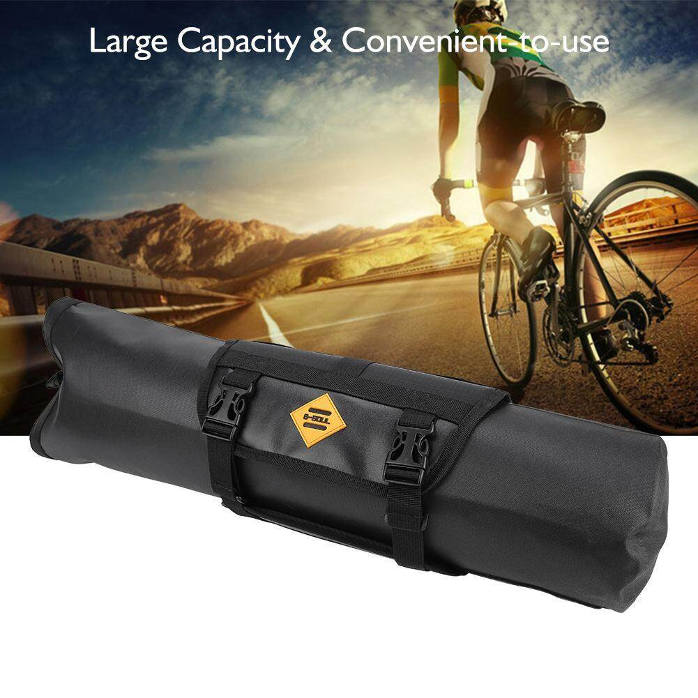 B-SOUL Bike Front Tube Handlebar Storage Bag Waterproof Roll Pouch Bicycle Accessory