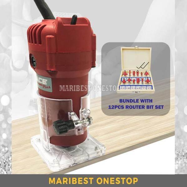 Mace Plus MT-ER700 220V 700W Electric Hand Trimmer Wood Laminate Router + 12Pcs Router Bit Set