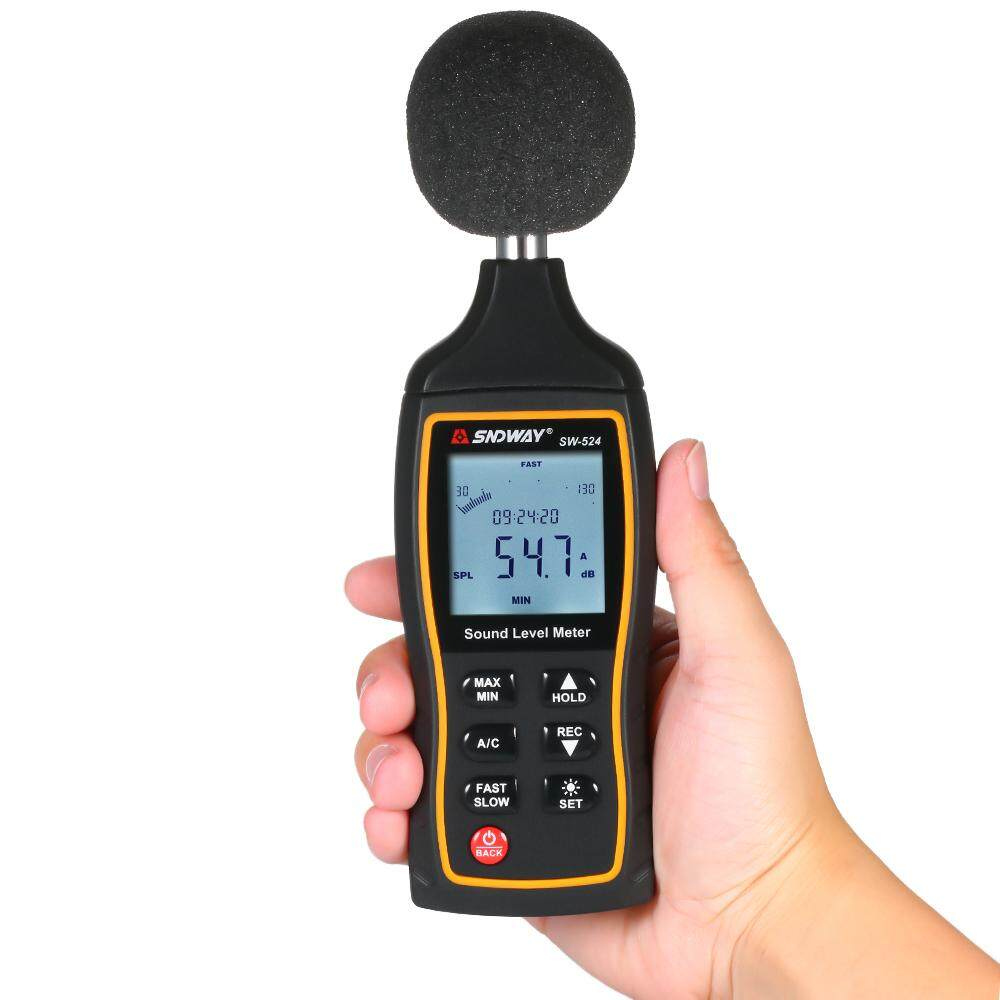 SNDWAY SW-524 30-130dB Digital Sound Level Meter Digital Noisemeter Noise Volume Measuring Instrument Decibel Monitoring Tester