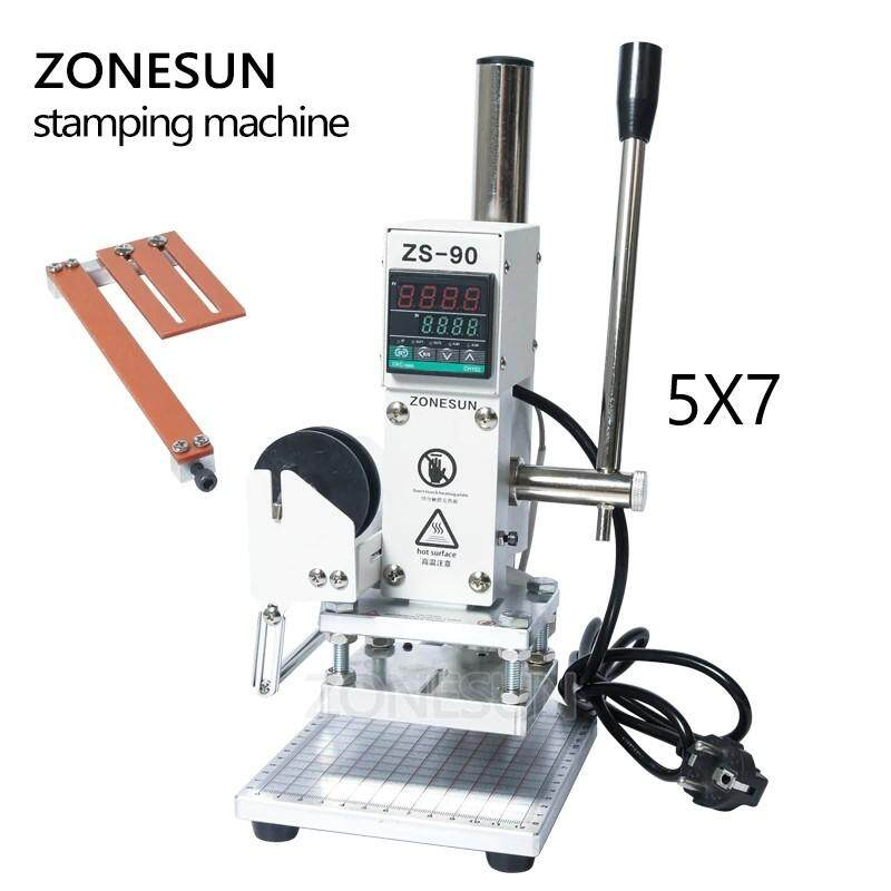 ZS90 New Hot Foil Stamping Machine Manual Bronzing Machine for PVC Card Leather Paper Embossing Stamping Machine