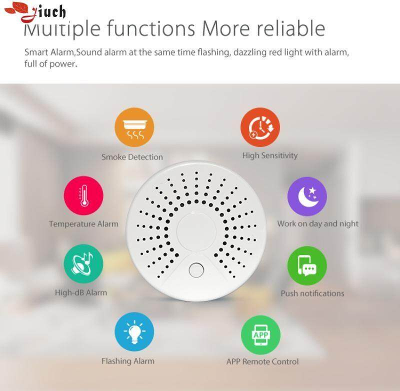 Jiuch Smart Life NAS-SD01W Portable Wireless Detector 100mA Working Current 45 Meter Wireless Range Alarm System