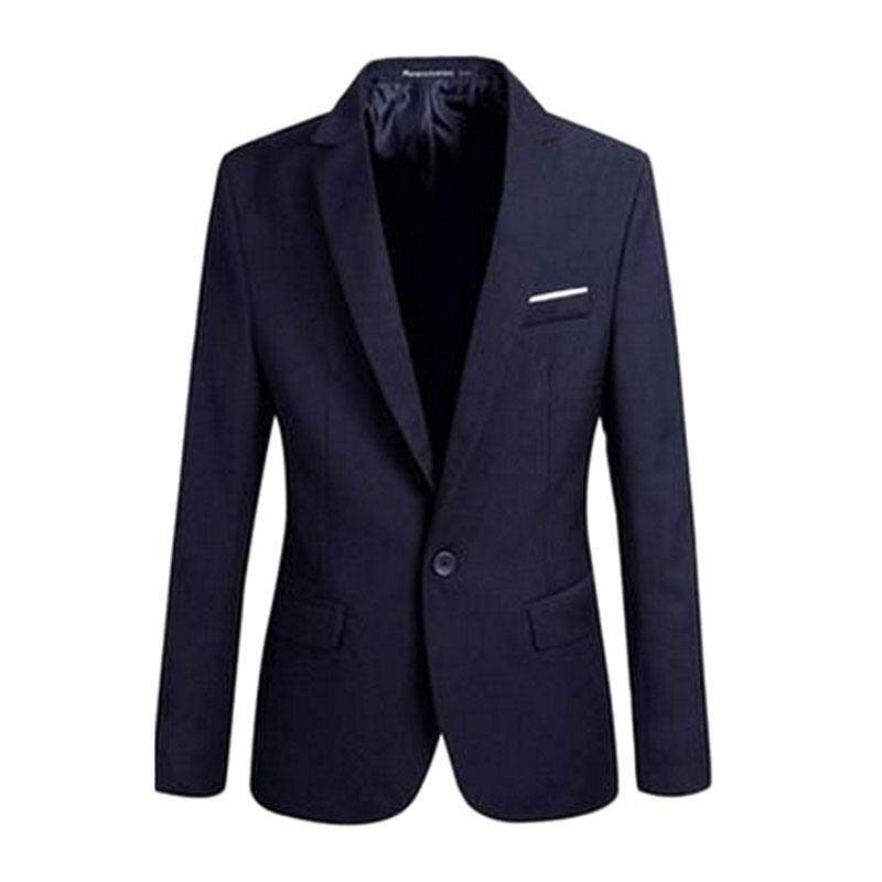 093f53a3fe Man One Button Blazer Suit Overcoat Business Outwear Trench Parka Jacket  Coat