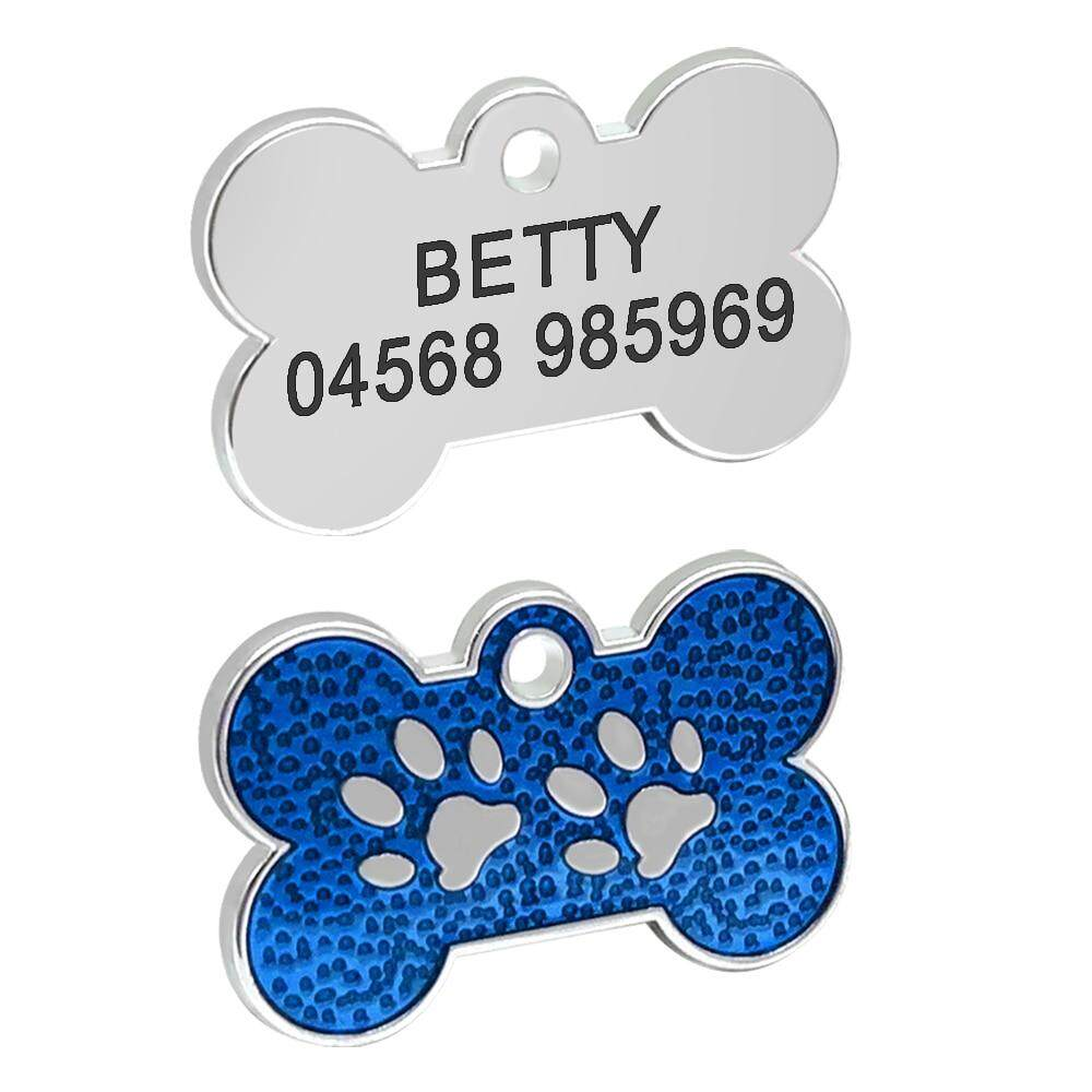 7f88bd201732 Personalized Dog Tags Engraved Cat Puppy Pet Name Collar Tag Pendant Pet  Accessories Bone/paw